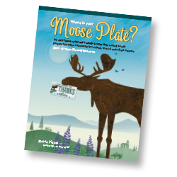 Moose Plate Color Desktop Poster